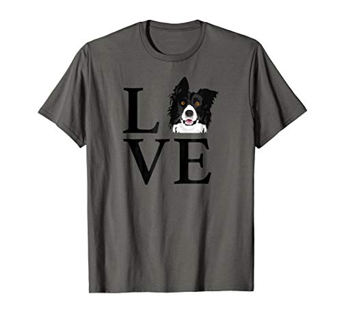 Funny I Love My Border Collie Australian Shepherd Tshirt