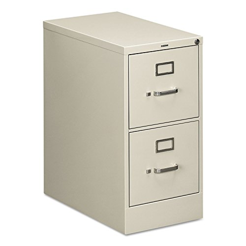 HON 512PQ Vertical File with Lock - 15amp;quot; x 25amp;quot; x 29amp;quot; - Steel - 2 x File Drawer(s) - Letter - Security Lock - Light Gray