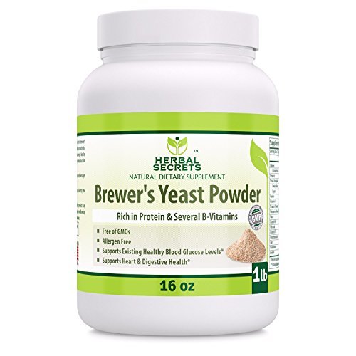 Herbal Secrets Brewer's Yeast Powder (16 oz) 1 lb (Non-GMO) - Allergen Free - Supports Heart & Digestive Health, Supports Healthy Blood Glucose Level*