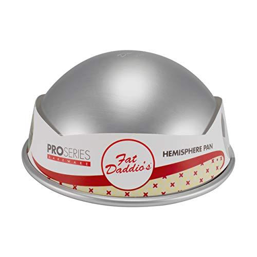 Fat Daddio's PHA-8 Cake Hemisphere Pan, 8 x 4 Inch, Silver