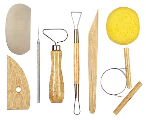 New - Pottery Tool Kit-8 Pieces by - 8 Pottery Piece Tool