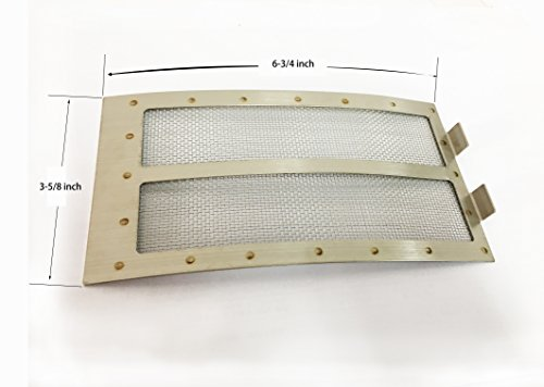 Replacement Mesh Panel (BBQ Metal MESH Panel Fit for XLarge Big Green Egg Grill Stainless Steel Draft Door)