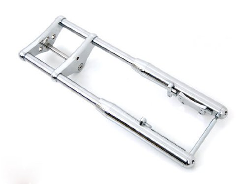 "Chrome Front End 4"" Over 3 Degree Rake for Harley-Davidson Wide Glide"