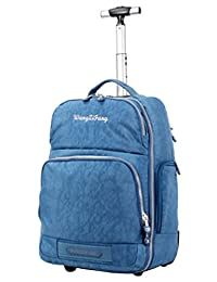 Wangzifang Waterproof Oxford Multifunctional Backpack Carry-on with Wheels