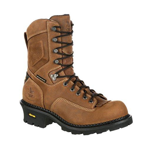 Composite Core - Georgia Boot Comfort Core Logger Composite Toe Waterproof Work Boot-GB00097 (M11) Brown