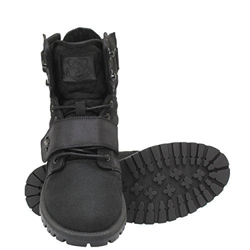 Vlado Footwear Mens Atlas 2 Stivali Di Tela / Nylon Alti Alti Top Top Neri