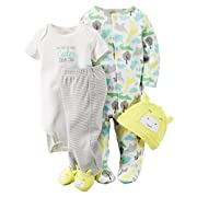 Carter's Baby Girls' 4 Piece Layette Set (Baby) - Animals-Newborn