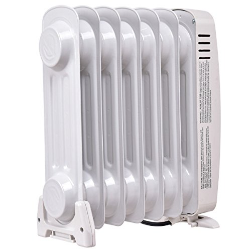 """COSTWAY Oil Filled Radiator Heater Mini Portable Electric Room Thermostat 700W (14"""" Height) by COSTWAY (Image #4)"""
