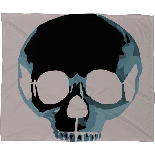Deny Designs Amy Smith Blue Skull 1 Fleece Throw Blanket, 60 x 80