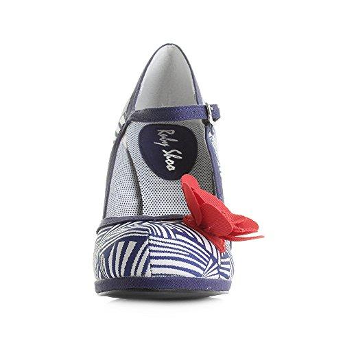 huge surprise for sale Ruby Shoo Women's Tanya Mary Jane Pumps Navy White discount footlocker qWeNFOwi