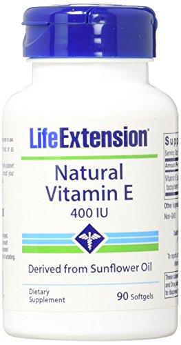 Life Extension Natural Vitamin E, 400 IU, 100 softgel