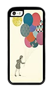 Apple Iphone 5C Case,WENJORS Awesome Party Girl Soft Case Protective Shell Cell Phone Cover For Apple Iphone 5C - TPU Black