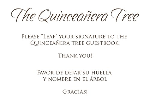 Amazon.com: Quinceanera Guest Book Tree # 4 Mask 20