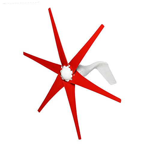 ZUINIUBI 1500W Wind Turbine 6 Blades DC12V/24V Wind Turbine Generator High Wind Power High Wind Energy Conversion Rate Strong Wind Resistance Ability Low Noise