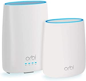 NETGEAR Orbi Built-in-Modem Whole Home Mesh WiFi System with all-in-one cable modem and WiFi router and single satellite extender with speeds up to 2.2 Gbps over 4,000 sq. feet, AC2200 (CBK40)
