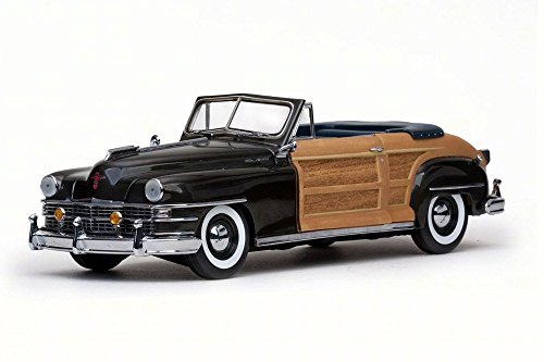 1948 Chrysler Town & Country Convertible, Gunmetal Gray - Sun Star 6141 - 1/18 Scale Diecast Model Toy Car (Danbury Mint Diecast Cars)
