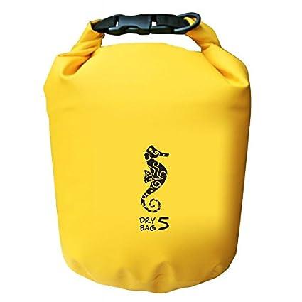 5 L-strapazierfähig trockensack solide et imperméable à l'eau, couleur : jaune, noir et rouge Gelb - Seepferdchen Surface Marker DB5-SH