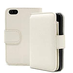 CaseMe Faux Leather Folip Wallet Case Cover with iPhone 6 Plus, 6s Plus in White