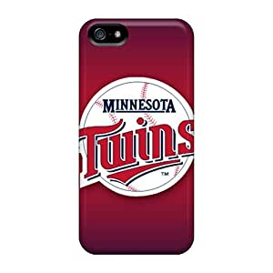 Anti-Scratch Hard Cell-phone Cases For Iphone 5/5s With Unique Design Nice Minnesota Twins Pattern JohnPrimeauMaurice