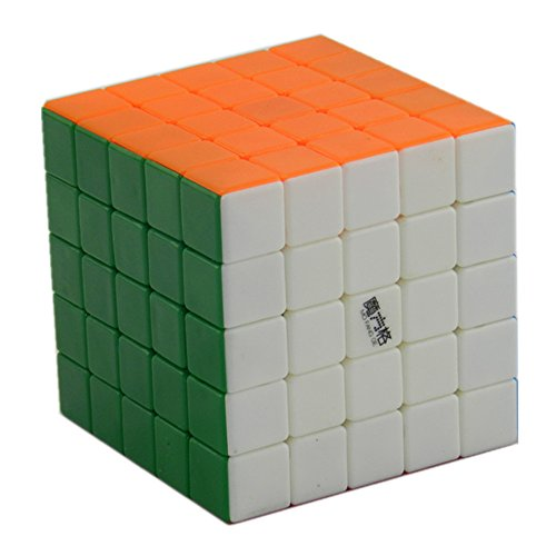 D-FantiX Qiyi MoFangGe Aohu 5x5 Speed Cube Stickerless Puzzle Standard Colorful with Extra Free Stand