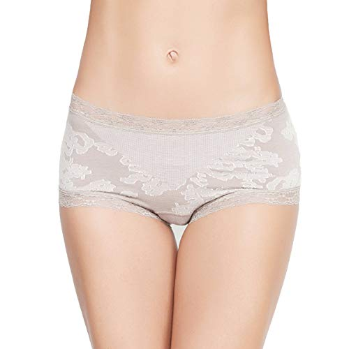 Eve's temptation Women's Cathy Seamless Cotton Boyshort Stretch Comfort Hipster Panty ()