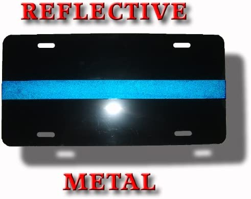 Thin Blue Line Metal License Plate Police Officers PoliceTees