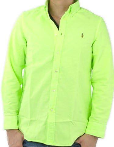 Ralph Lauren verde lima botón abajo camisa verde verde lima 5 Años: Amazon.es: Ropa y accesorios