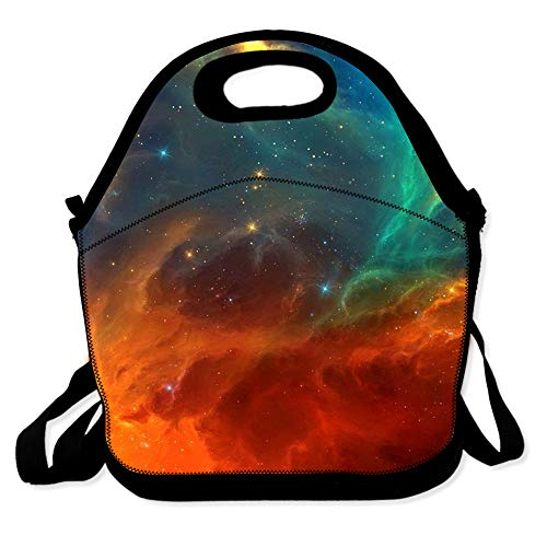Lunch Bag for Boys Girls Kids Women Insulated Thick Lunch Tote Bags with Shoulder Strap Lunchbox Handbag Food Bento Boxes Container for Work School-Space Universe