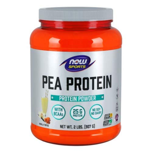 Now Foods PEA PROTEIN VANILLA TOFFEE 2 LBS 4 Pack