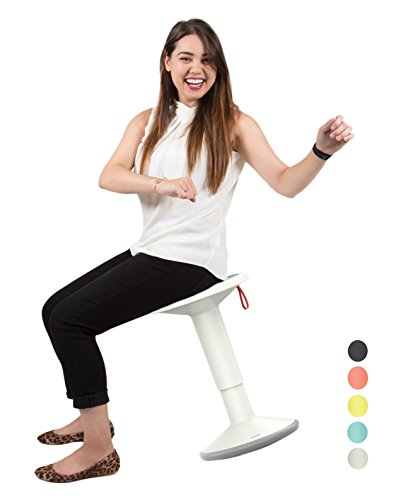 Stand Steady Up Wobble Stool for Seating Performance with Active Sitting - Premium Ergonomic Stool / Ergonomic Office Chair for Comfort & Back Pain Relief - Made in Germany (White)