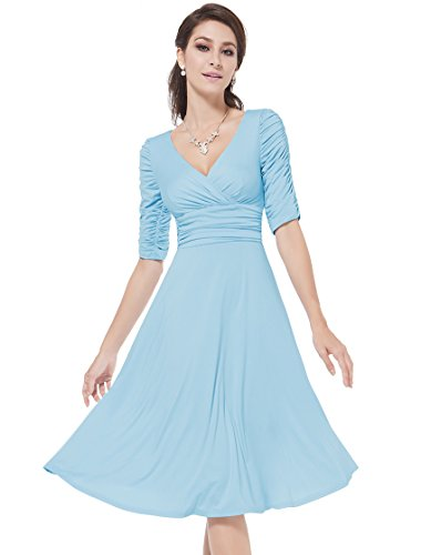 HE03632BL06 Blue 4US Ever Pretty Homecoming Dresses With Sleeves 03632