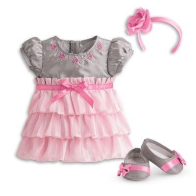 American Girl Bitty Baby - Twirly Tiered Dress for dolls - Bitty Baby 2015