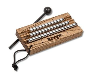 TreeWorks Chimes ((MADE IN U.S.A.) Three Tone Energy Chime for Meditation and Classroom Use includes Mallet and Cord Handle (VIDEO) (TRE420)