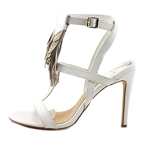 B Brian Atwood Fabia Lederen Sandaal, Zwart Wit Multi