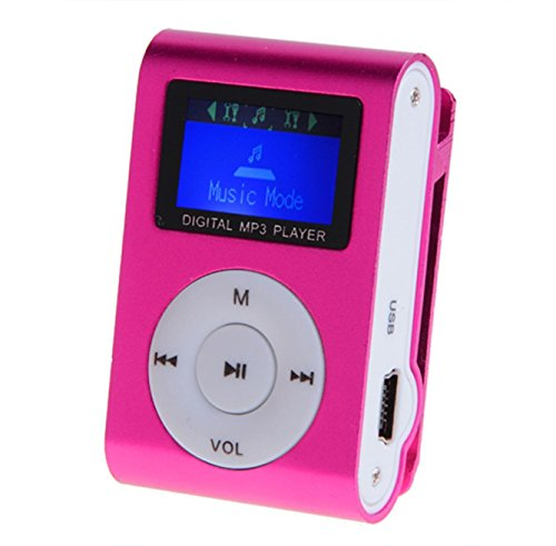 edited Mini Clip Metal Mp3 Player with LCD Screen + Micro/TF Slot for Mini SD Card Mp3 Red MP3 & MP4 Players