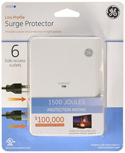 Surge Protector 6 Outlet Size Ea Surge Protector 6 Outlet 1500 Joules Side Access