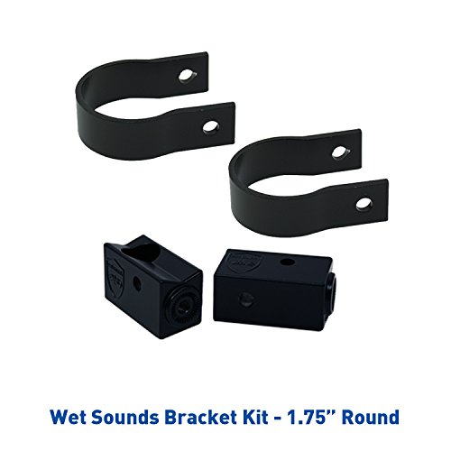 Round Clamp (Wet Sounds Stealth Mounting Bracket Kit - Slider bracket and Round 1.75