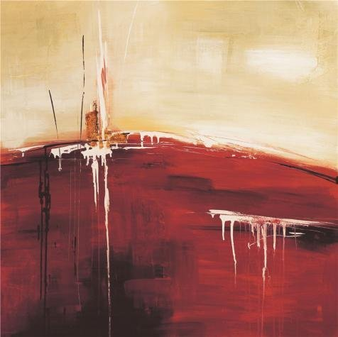 'Modern Abstract: Red' Oil Painting, 10x10 Inch / 25x25 Cm ,printed On Perfect Effect Canvas ,this Beautiful Art Decorative Canvas Prints Is Perfectly Suitalbe For Kitchen Decoration And Home Decor And Gifts