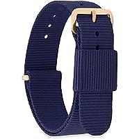 GN7 Donna Uomo Nylon cinturino orologio di ricambio con fibbia in acciaio inossidabile in oro rosa e argento 18mm 20mm 22mm