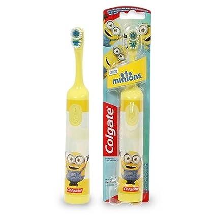 Colgate MINIONYELLOW recargable de alimentación Minion cepillo de dientes pequeños oscilante de la cabeza que limpia