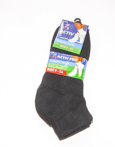 mens-diabetic-socks-non-binding-top-ankle-socks-size-9-11-black-3-pairs