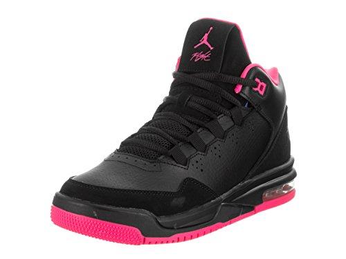 Jordan Nike Kids Flight Origin 2 Gg Black/Black/Hyper Pink Basketball Shoe 7 Kids US by Jordan