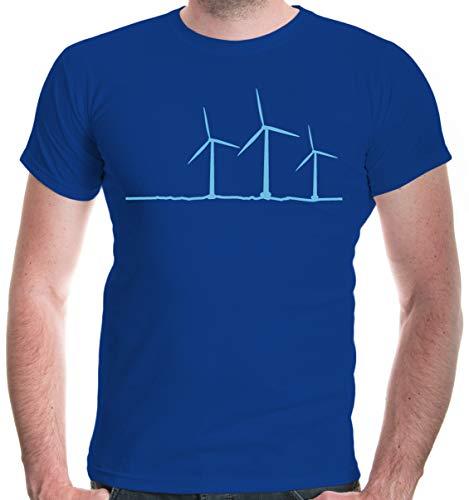 buXsbaum Mens T-Shirt Wind Turbine-M-Royal-SkyBlue]()