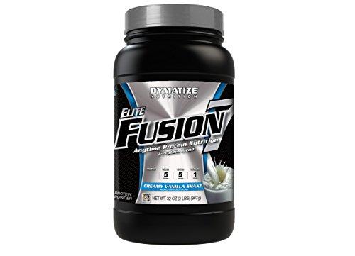 Dymatize Elite Fusion 7 Protein Blend, Creamy Vanilla Shake, 2 lbs by Dymatize