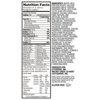 Chocolate Muscle Milk Light Ready to Drink Shake, 18 Individual Screw Top 11 Ounce Cartons
