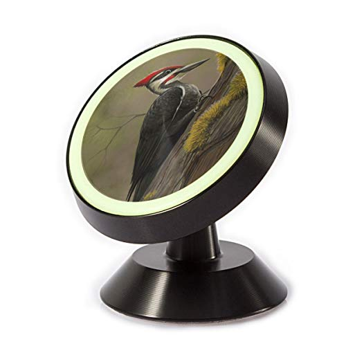 Magnetic Car Phone Holder Woodpecker Picture 360 Degree Rotating Stand Grip Mount for iPhone X / 8/8 Plus 7/7 Plus / 6s / 6 / Galaxy S8 / S7 ()