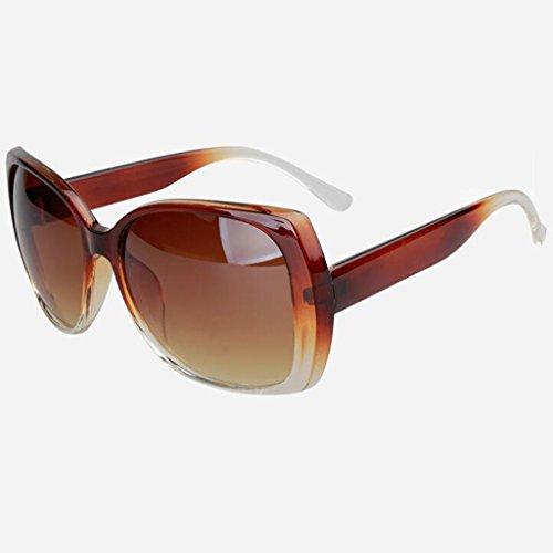 Marco Vintage UV Moda HOME Sol Color Marrón Protección Marrón Espejo De De De Gafas QZ Decorativo Gran IYOqCwSI