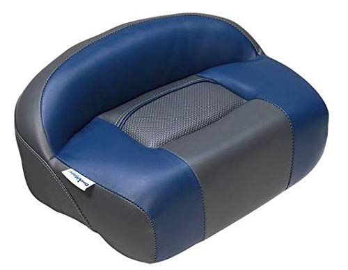 DeckMate Lean Pro Fishing Seat (Charcoal and Blue) - Seat Casting Pro