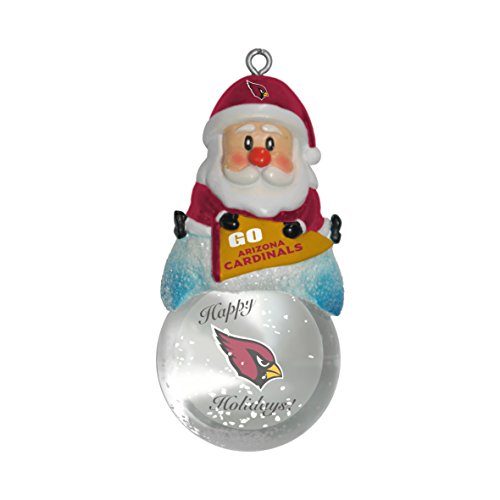 Arizona Cardinals Snow Globe Ornament