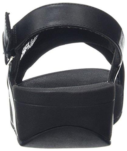 Negro 001 con Sandal Sandalia Mujer para Lulu FITFLOP Cross Black Back Leather Strap Pulsera PRpw1q